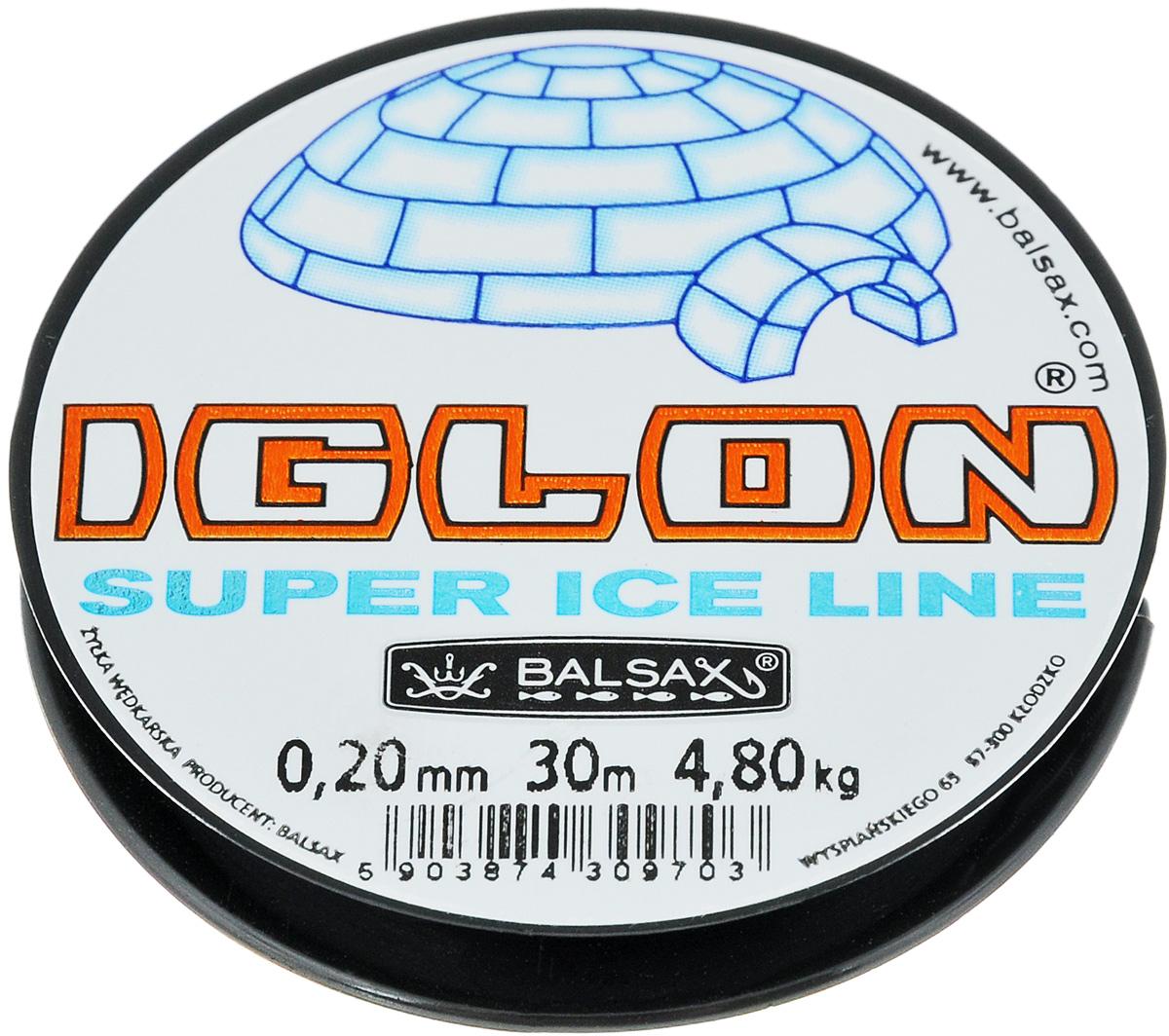 """0,20 Леска зимняя Balsax """"Iglon"""", 30 м, 0,20 мм, 4,8 кг"""