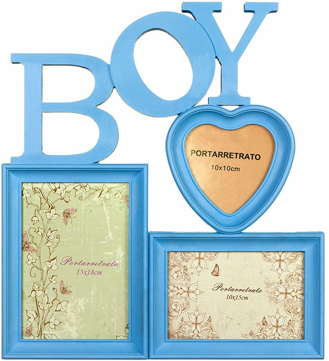 Фоторамка-коллаж Platinum Boy, 3 фото фотоальбом platinum ландшафт 1 200 фотографий 10 х 15 см цвет зеленый голубой коричневый pp 46200s