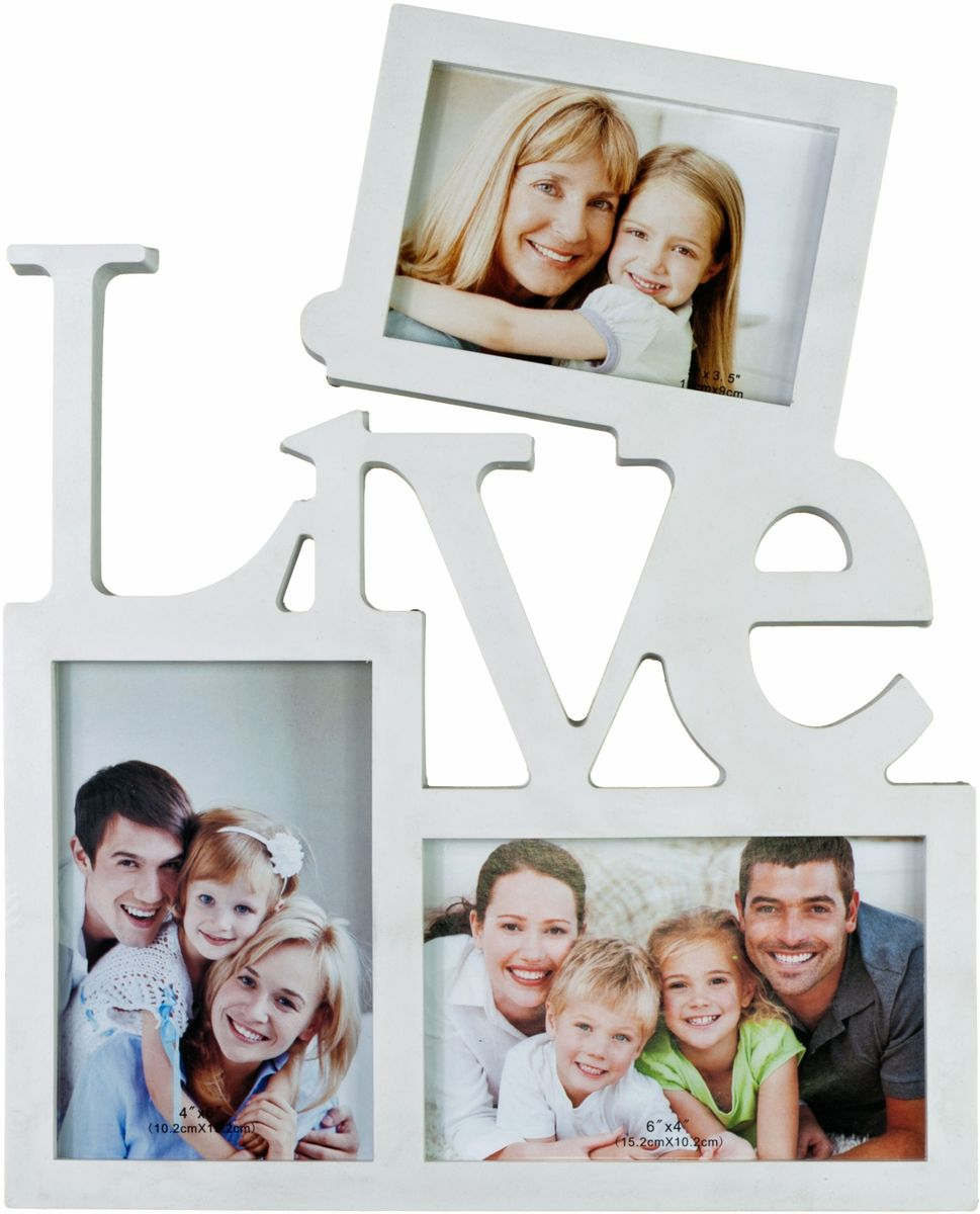 Фоторамка Platinum Live, цвет: белый, на 3 фото. BIN-1123095 фоторамка друзья на 3 фото цвет белый 1262615