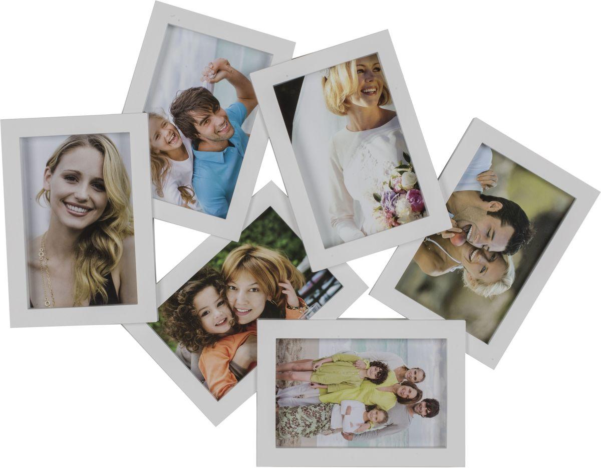 Фоторамка Platinum, цвет: белый, на 6 фото 10 х 15 см фоторамка platinum сердце цвет белый на 5 фото 10 х 15 см