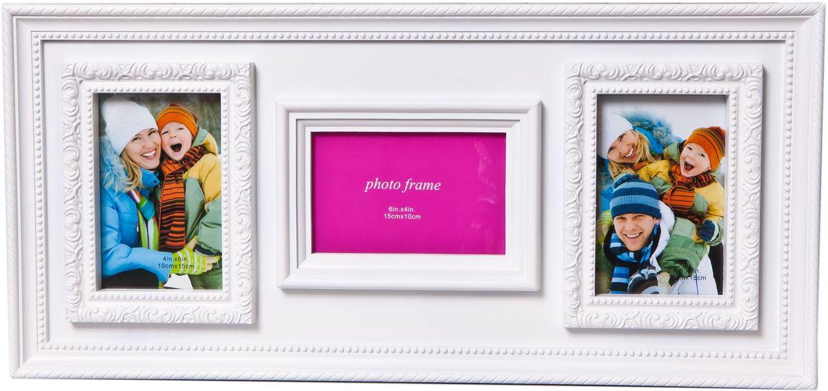 Фоторамка Platinum, цвет: белый, на 3 фото фоторамка друзья на 3 фото цвет белый 1262615