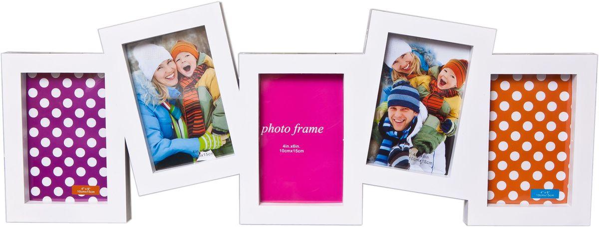Фоторамка Platinum, цвет: белый, на 5 фото 10 х 15 см. BH-1305 фоторамка подсолнухи 9 х 13 см 513157