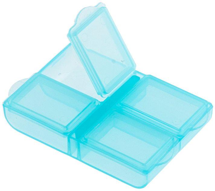 Органайзер для рукоделия Gamma, цвет: голубой, 6,4 х 4,4 х 1,3 см набор луп для рукоделия gamma 3 шт
