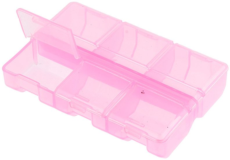 Органайзер для рукоделия Gamma, цвет: розовый прозрачный, 9 х 6 х 1,8 см органайзер для хранения обуви hipster style 6 секций 66 х 63 х 11 см