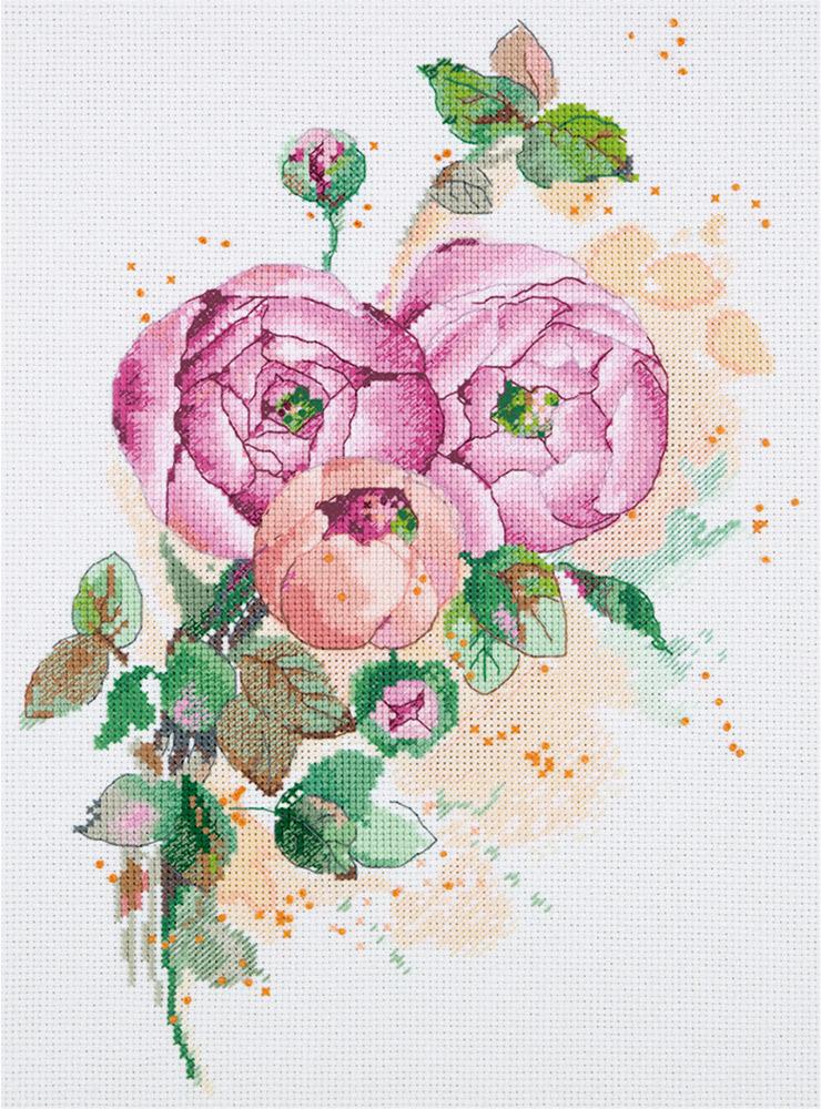 Набор для вышивания крестом Panna Ранункулюс, 30 х 21 см набор для вышивания крестом panna физалис 30 х 21 см