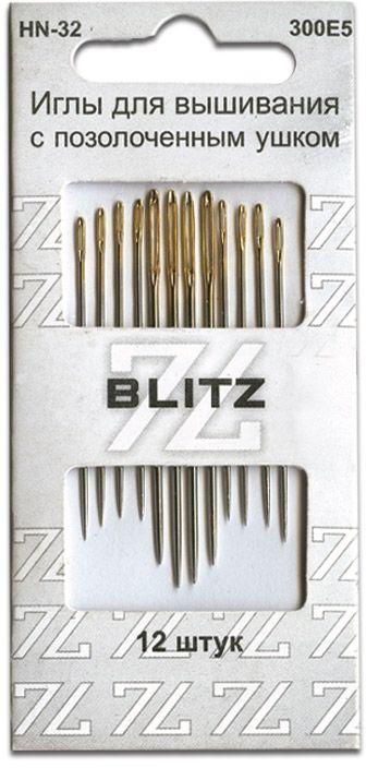 Иглы ручные Blitz, для шитья, 12 шт цена