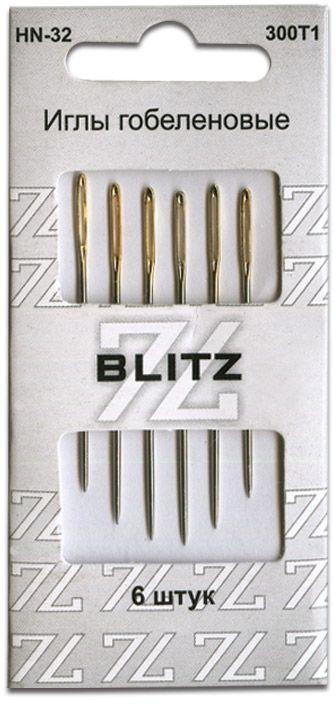 Иглы ручные Blitz, для шитья, 6 шт цена