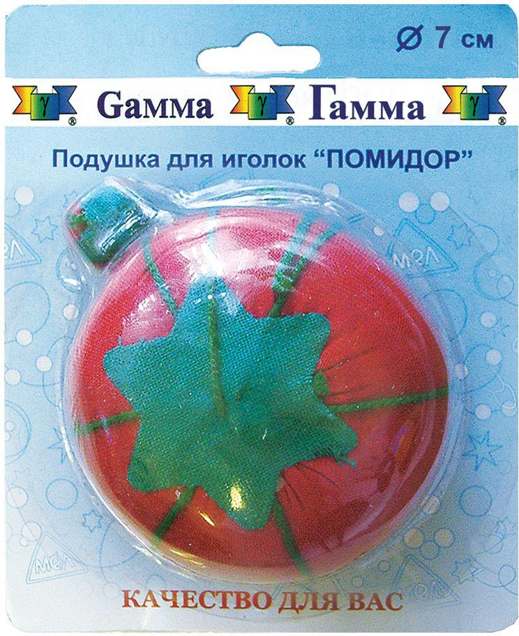Игольница Gamma Помидор, диаметр 7 см булавки для шитья gamma ромашка 40 шт