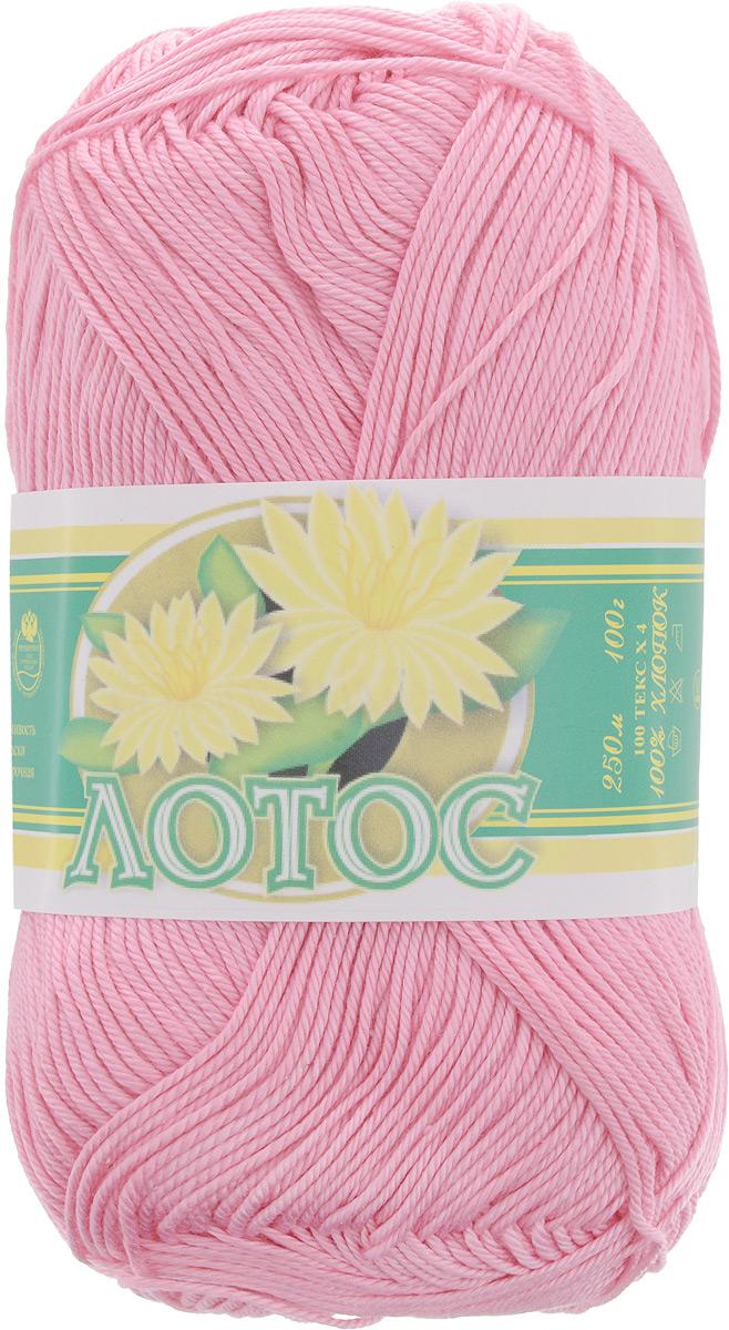 """Нитки вязальные """"Лотос"""", хлопчатобумажные, цвет: розовый (1104), 250 м, 100 г, 4 шт"""