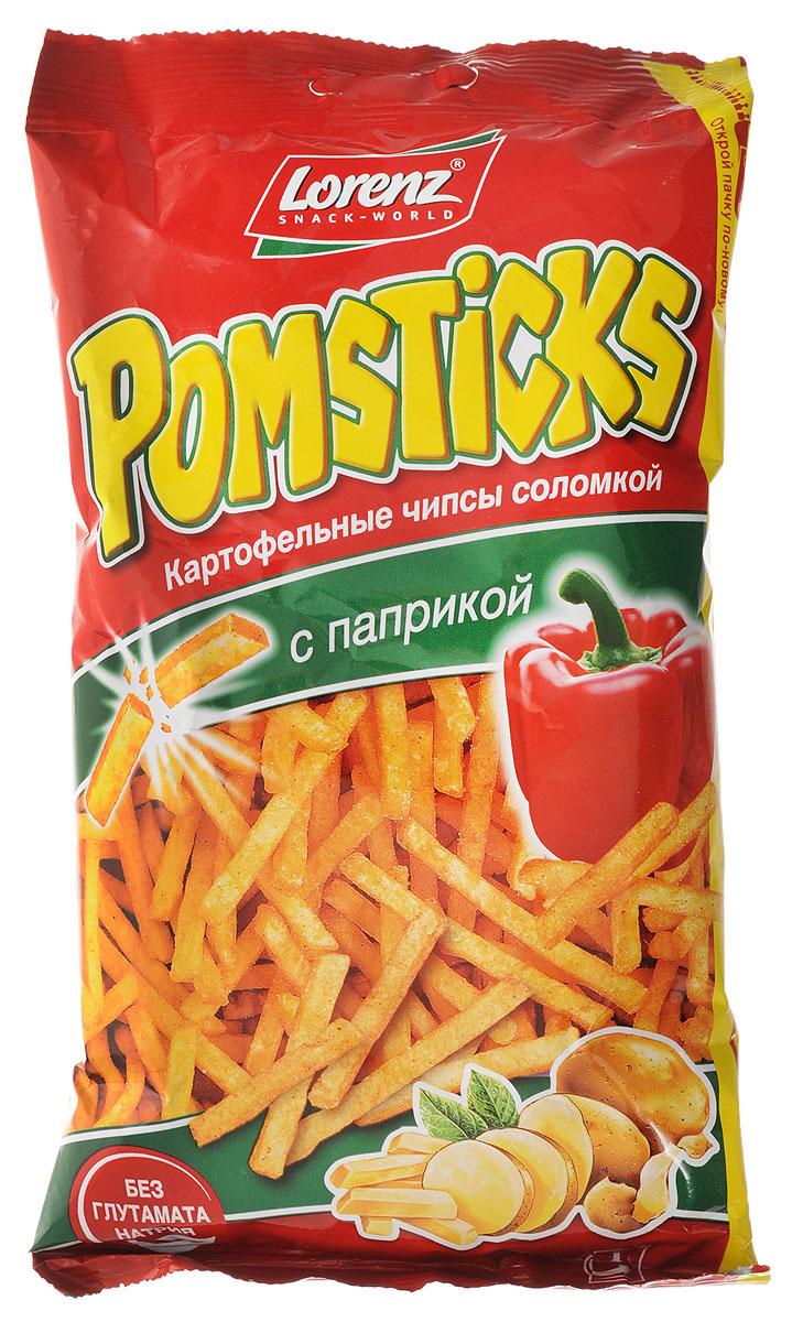 Lorenz Pomsticks картофельные чипсы с паприкой, 100 г чипсы картофельные русская картошка креветки 50 г