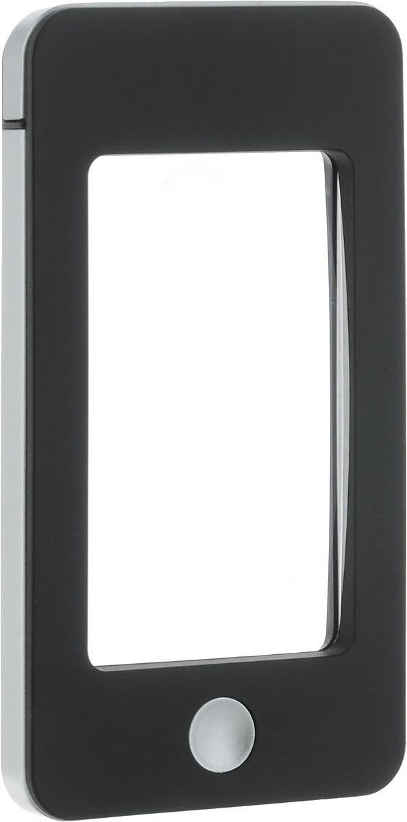 """Лупа """"Veber"""", с подсветкой, цвет: черный, серый, 2,5х/4х"""