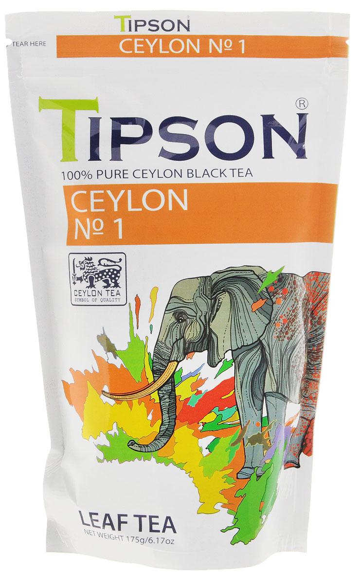 Tipson Ceylon №1 черный листовой чай, 175 г80114-00Чай, произрастающий на острове Цейлон, давно признан лучшим в мире. Чай Tipson №1, в котором найден гармоничный баланс между силой вкуса и элегантностью аромата.