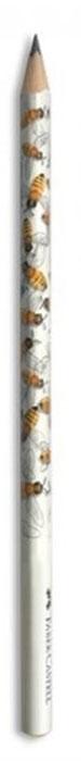 Faber-Castell Чернографитовый карандаш Triangular цвет корпуса белый желтый мотив пчела faber castell чернографитовый карандаш triangular цвет корпуса черный белый мотив корова 3 шт ластик в блистере
