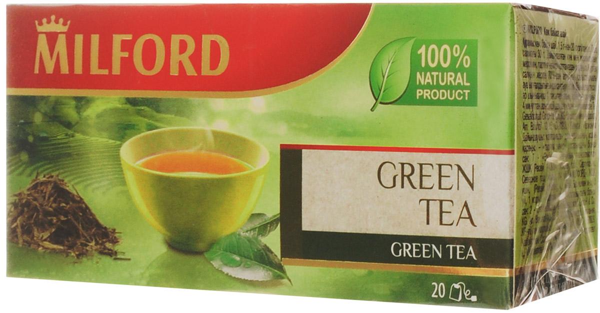 Milford чай зеленый в пакетиках, 20 шт