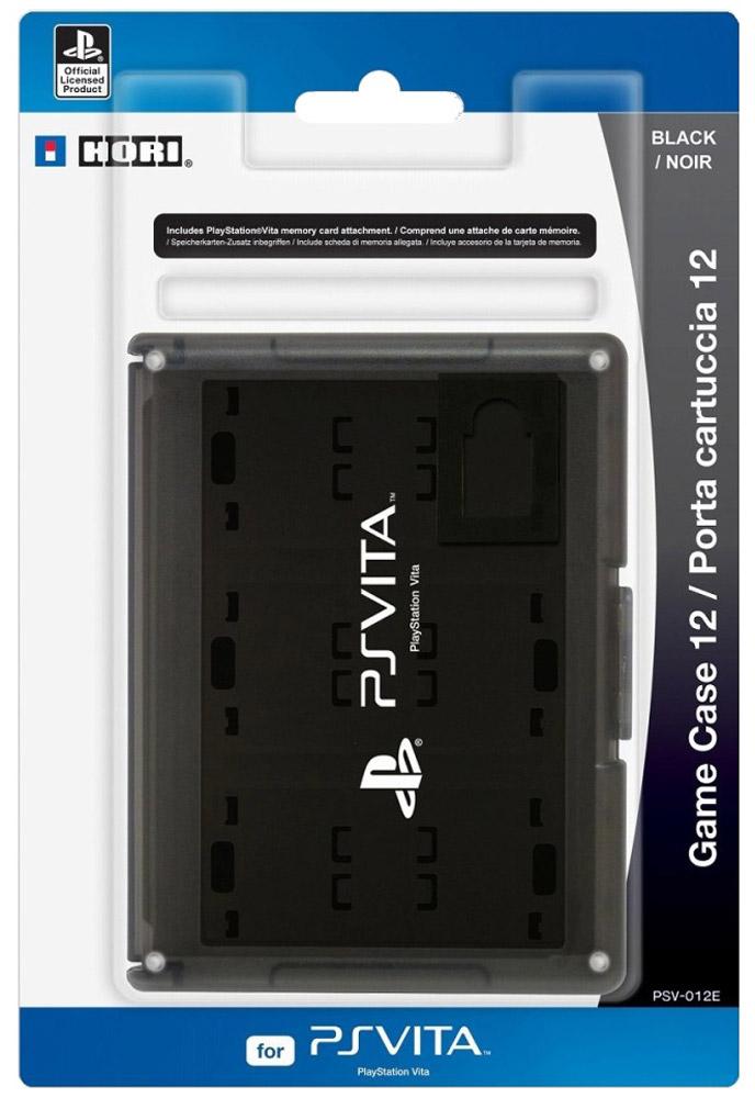PS Vita: Футляр для хранения 12 игровых флэш карт, Black sony игра для ps vita invizimals альянс русск