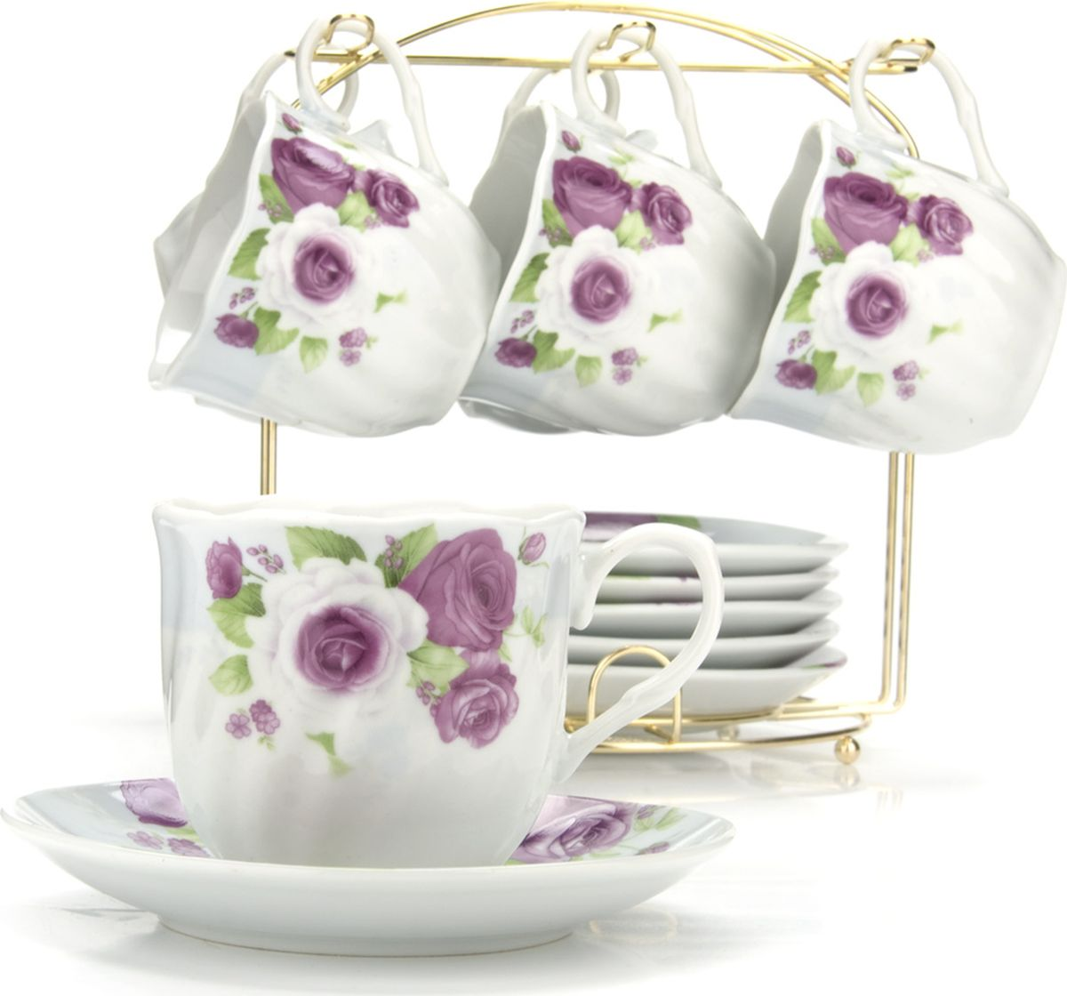Сервиз чайный Loraine, на подставке, 13 предметов. 43284 сервиз чайный loraine на подставке 13 предметов 43284