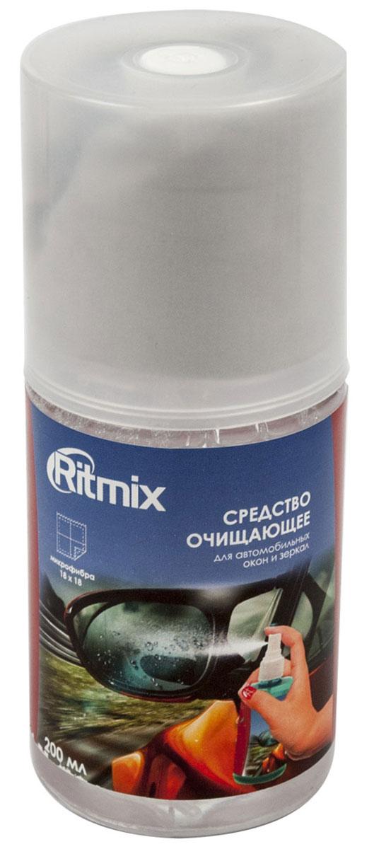 Ritmix RC-200BWC очищающее средство для автомобильных стекол и зеркал средство очищающее антибактериальное ritmix rc 100bac