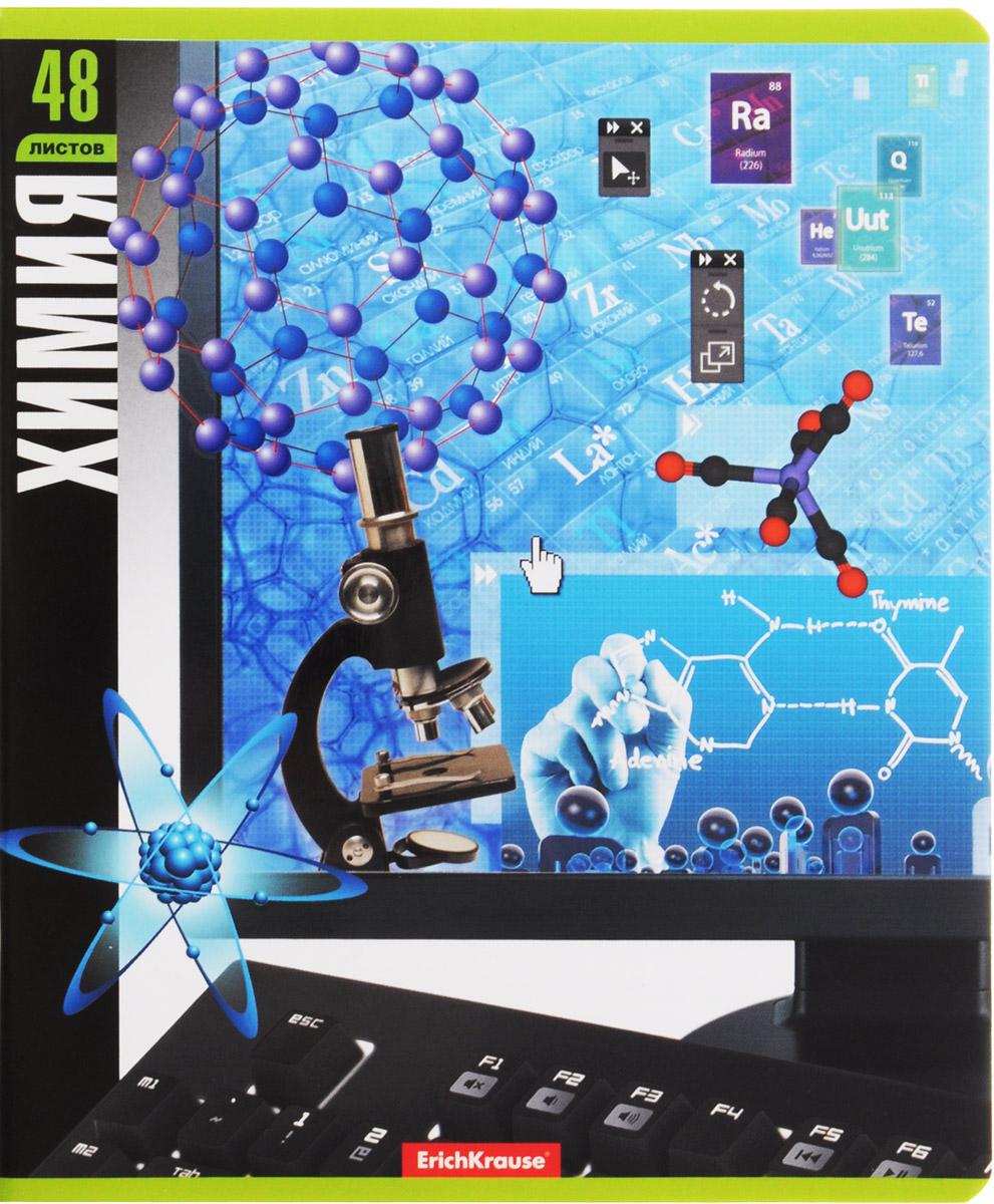 Тетрадь общая ErichKrause Монитор, Химия, 48 листов в клетку erich krause тетрадь вселенная 96 листов в клетку цвет цвет черный синий