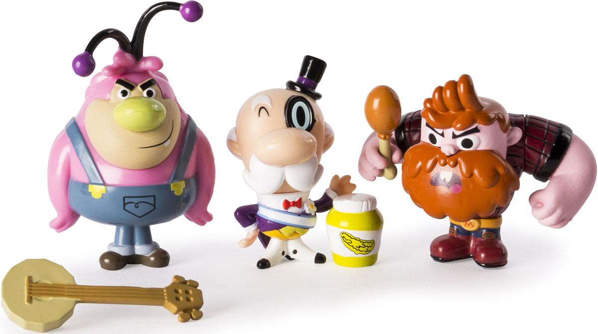 Powerpuff Girls Набор фигурок Обитатели города 3 шт игровые фигурки 1 toy набор фигурок крысы 6 шт