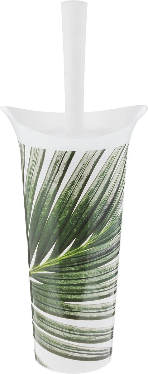 Ершик для унитаза Idea Лотос деко. Пальма, с подставкой, высота 36 см ершик для унитаза berossi eco с подставкой цвет снежно белый 15 7 х 47 5 см