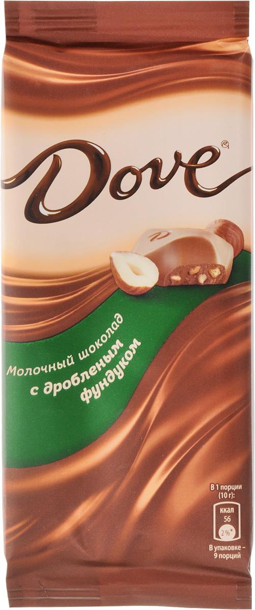 купить Dove молочный шоколад с дробленым фундуком, 90 г недорого
