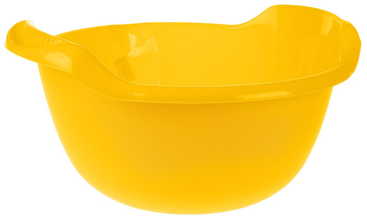 Таз Idea, с ручками, цвет: желтый, 24 л
