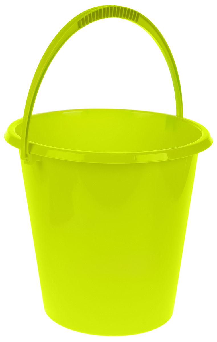 Ведро хозяйственное Idea, цвет: салатовый, 11 л ведро idea цвет марморный 10 л