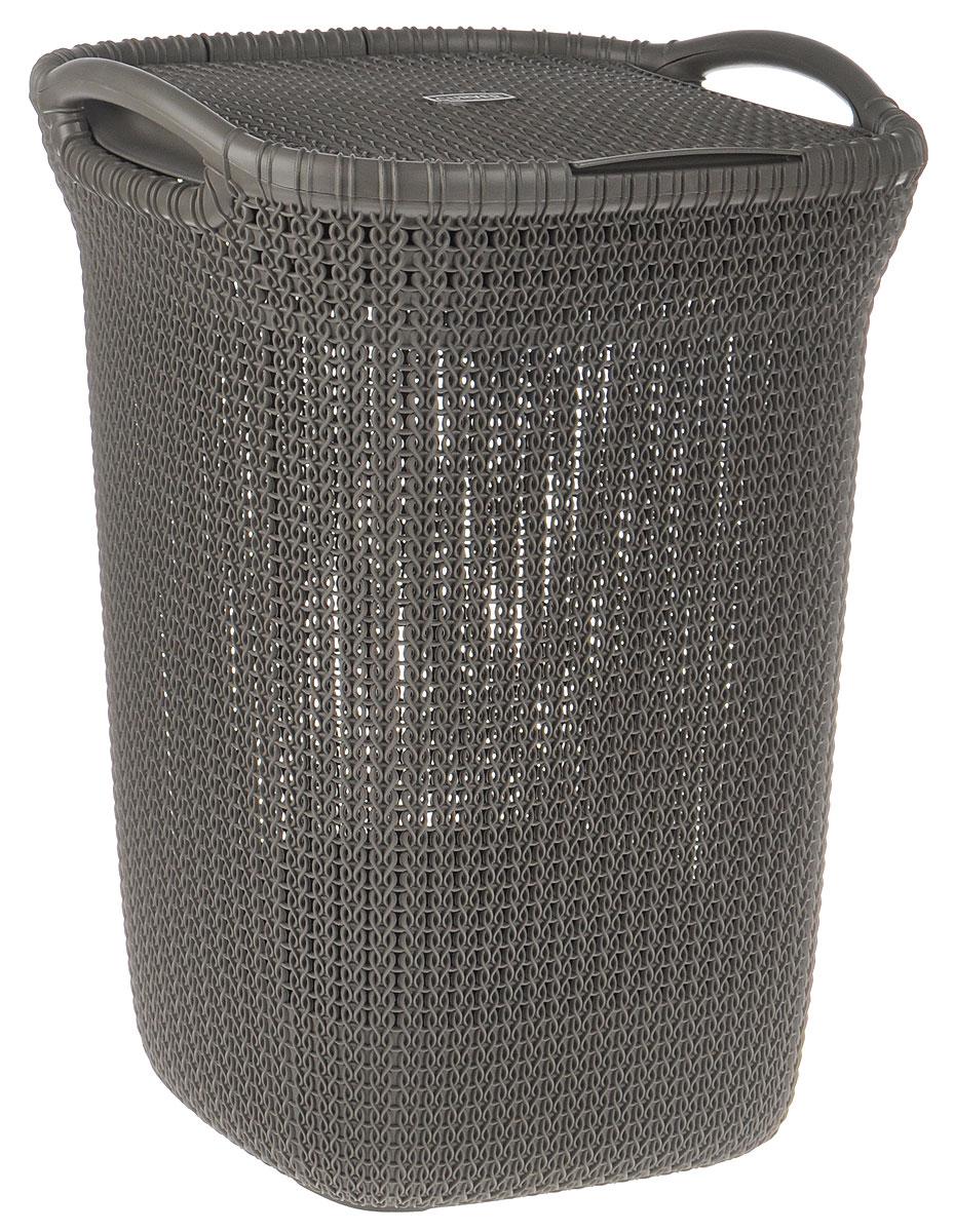 Корзина для белья Curver Knit, цвет: серо-коричневый, 57 л корзина для белья curver корзина для белья виктор curver темно коричневый 40л
