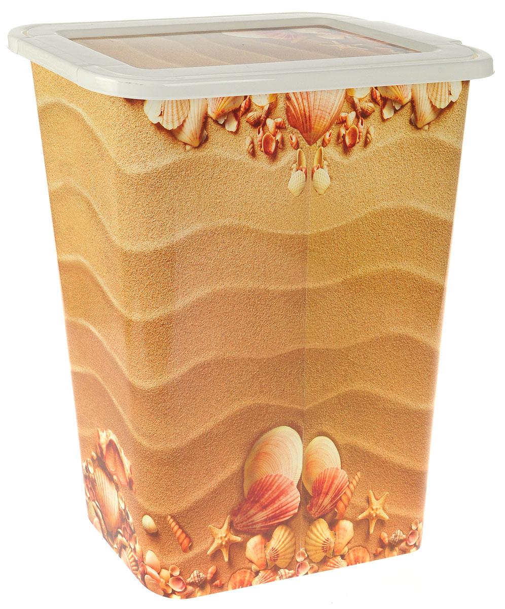 Корзина для белья Idea Деко. Пляж, узкая, 35 л корзина для белья 3 sprouts orange orangutan
