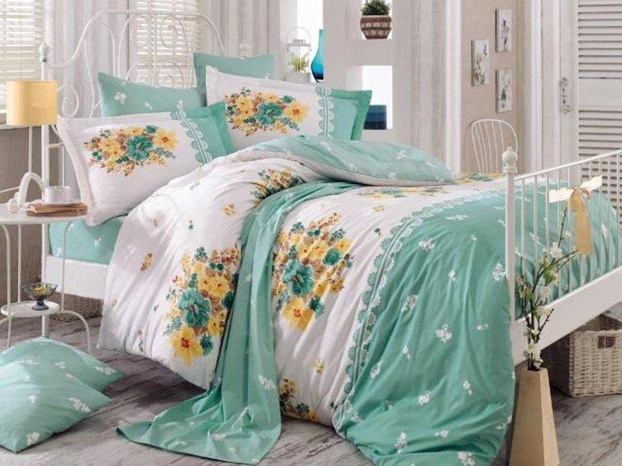 """Комплект белья Hobby Home Collection """"Alvis"""", 1,5-спальный, наволочки 50x70, 70x70, цвет: зеленый"""