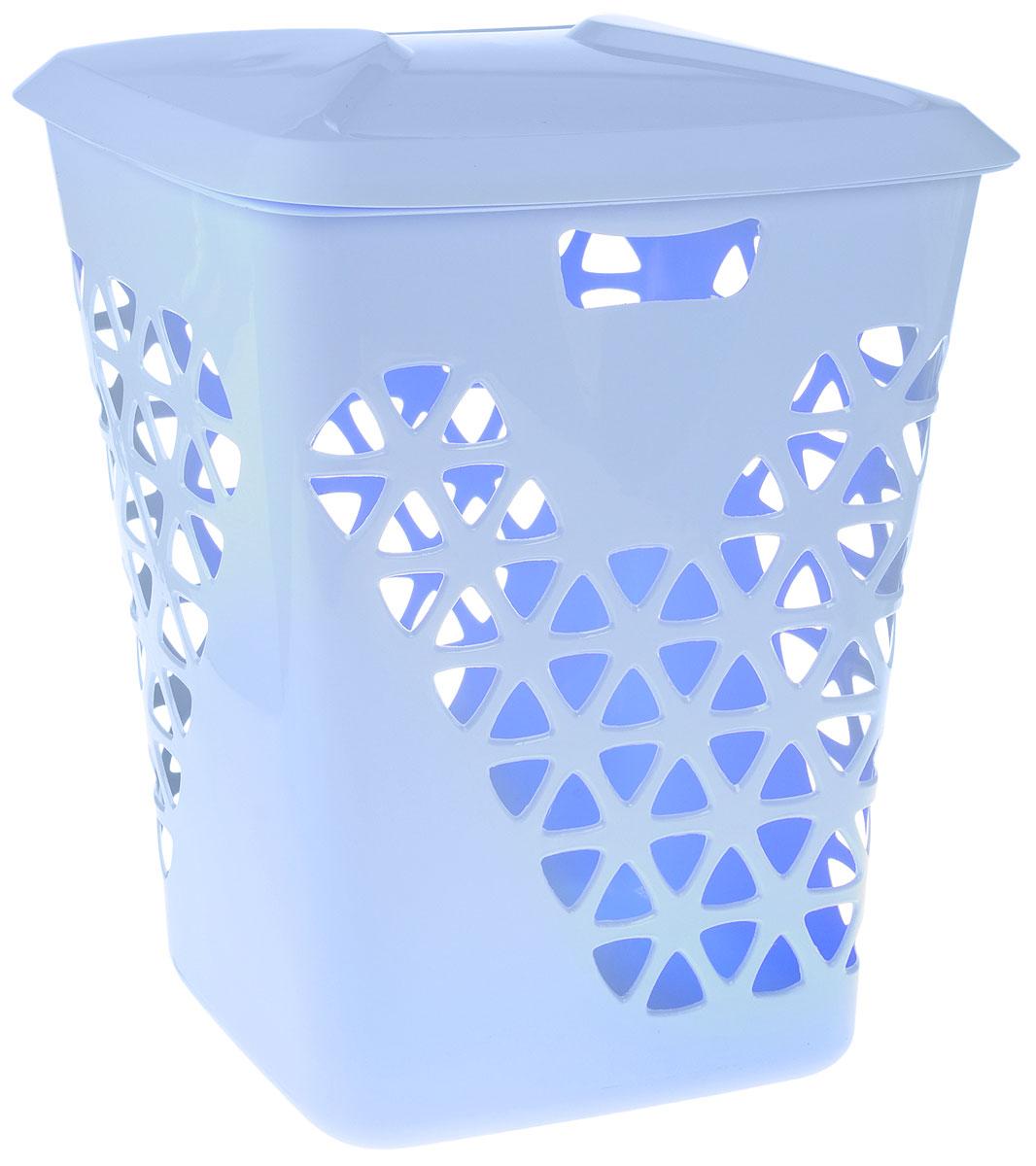 Корзина для белья Idea Венеция, цвет: голубой, 60 л корзина для белья idea венеция узкая цвет белый