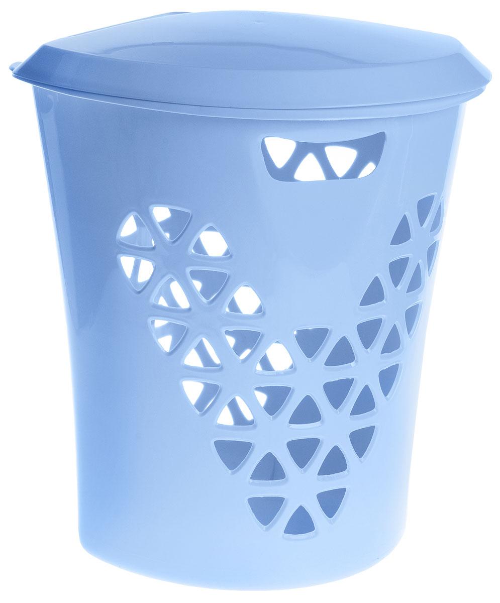 Корзина для белья Idea Венеция, угловая, цвет: голубой, 50 л корзина для белья альтернатива угловая цвет голубой 45 л