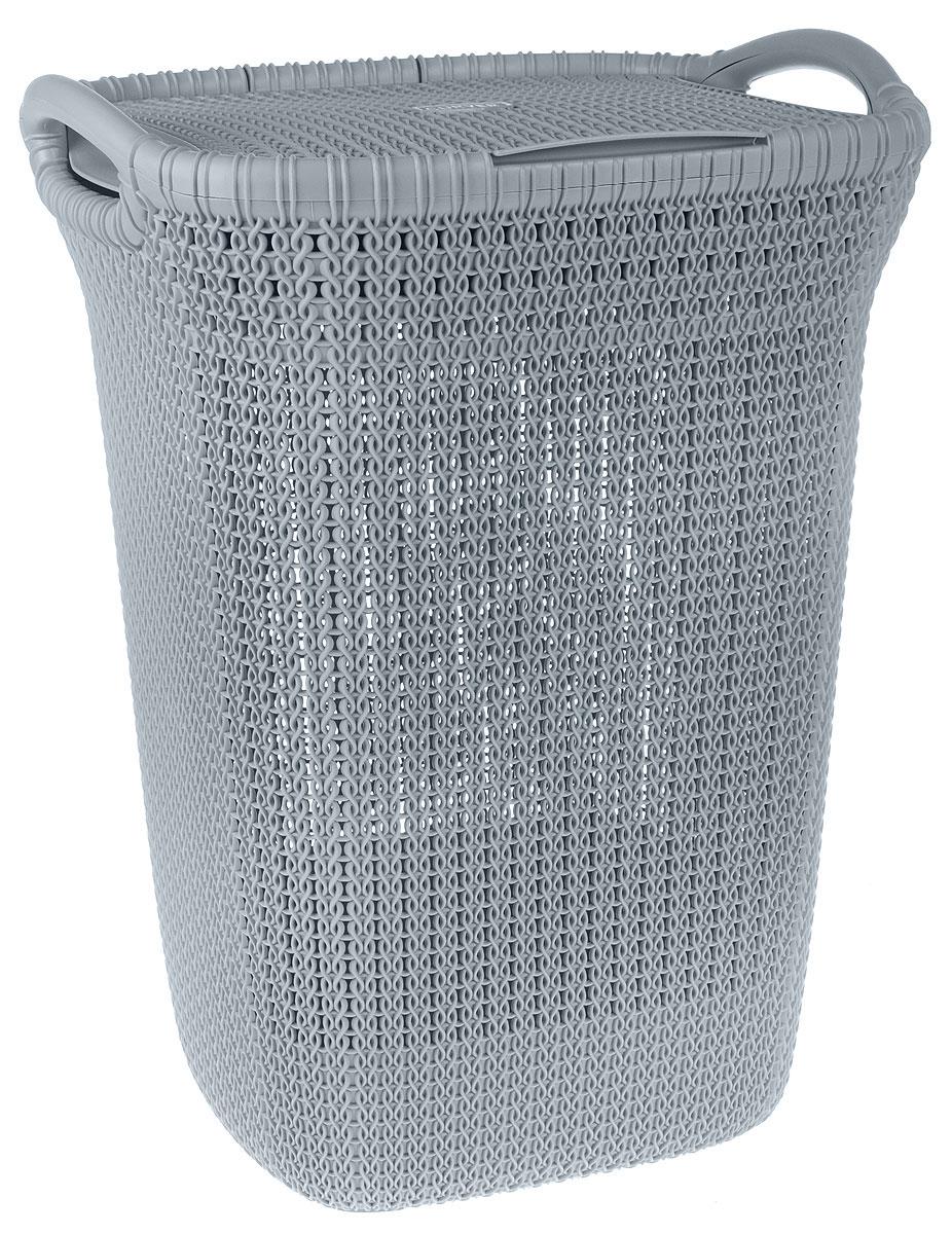 Корзина для белья Curver Knit, цвет: серый, 57 л корзина для белья curver цвет фисташковый 45 л