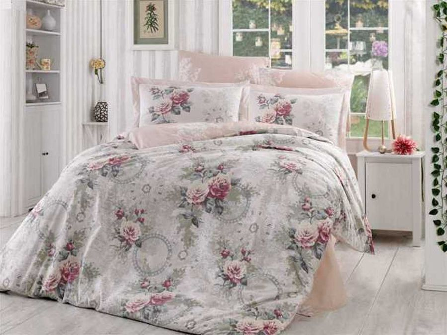 Комплект белья Hobby Home Collection Clementina, евро, наволочки 50x70, 70x70, цвет: светло-розовый цена