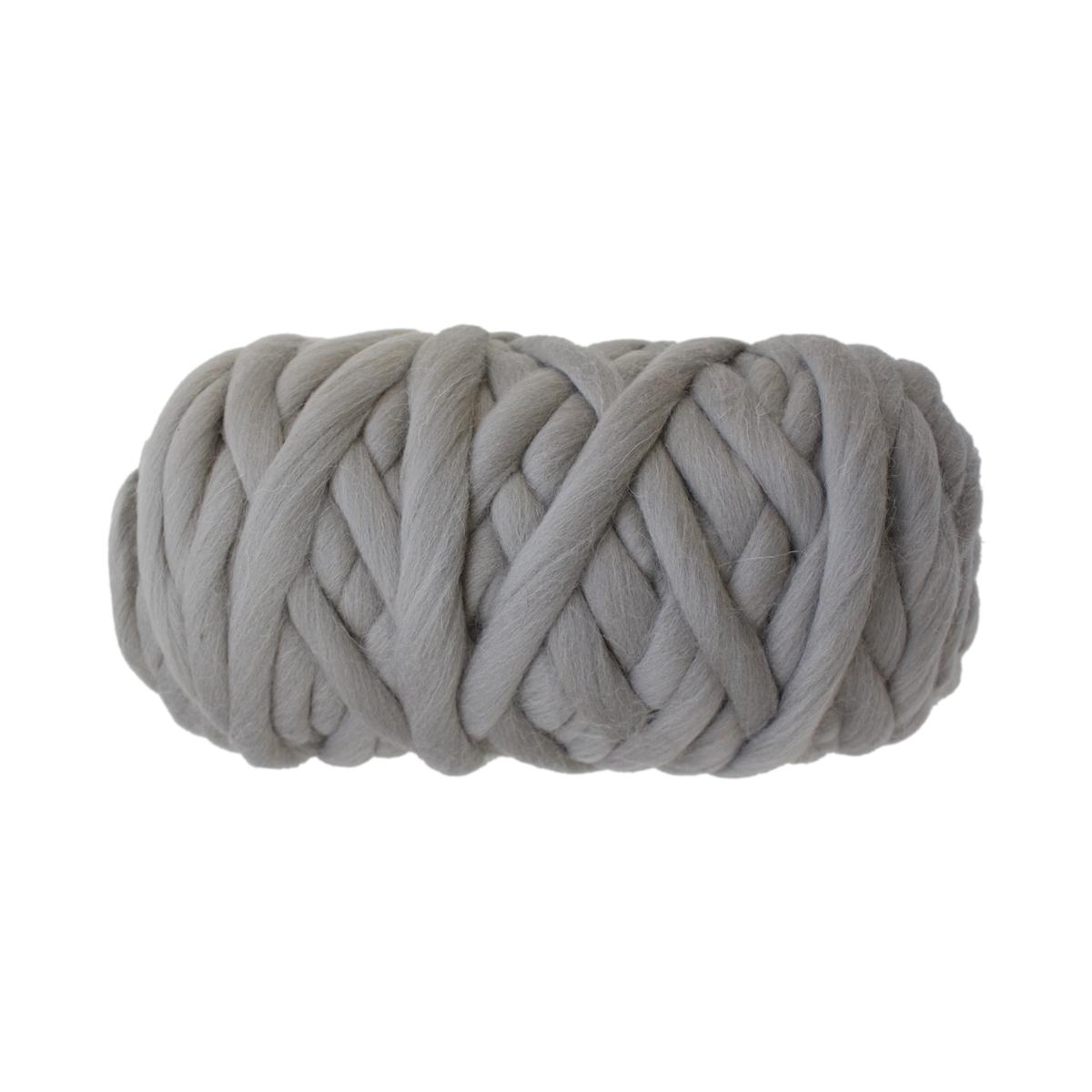 """Пряжа для вязания Камтекс """"Супер толстая"""", цвет: светло-серый (168), 40 м, 500 г"""