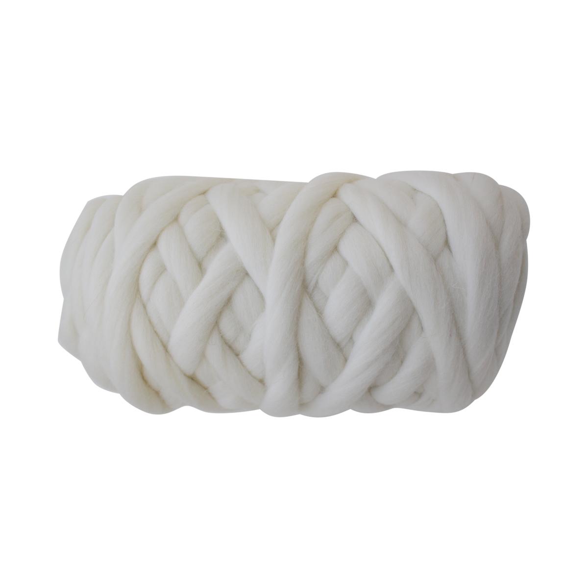 """Пряжа для вязания Камтекс """"Супер толстая"""", цвет: белый (205), 40 м, 500 г"""