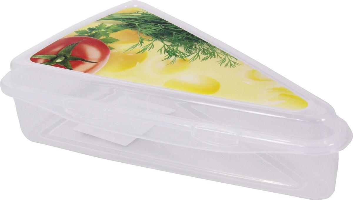 Контейнер для сыра Idea, цвет: прозрачный, 21 х 13 х 5 см контейнер для еды складной axon цвет оранжевый прозрачный 19 х 12 5 х 7 см