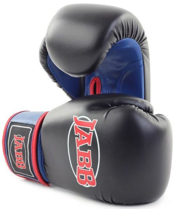 Перчатки боксерские Jabb JE-2015, цвет: черный, синий, 6 oz цена