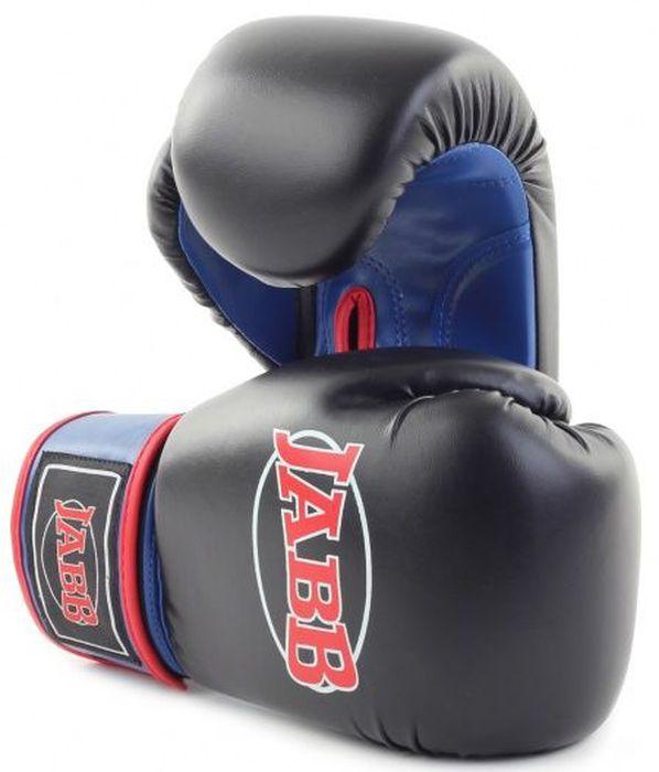 Перчатки боксерские Jabb JE-2015, цвет: черный, синий, 12 oz