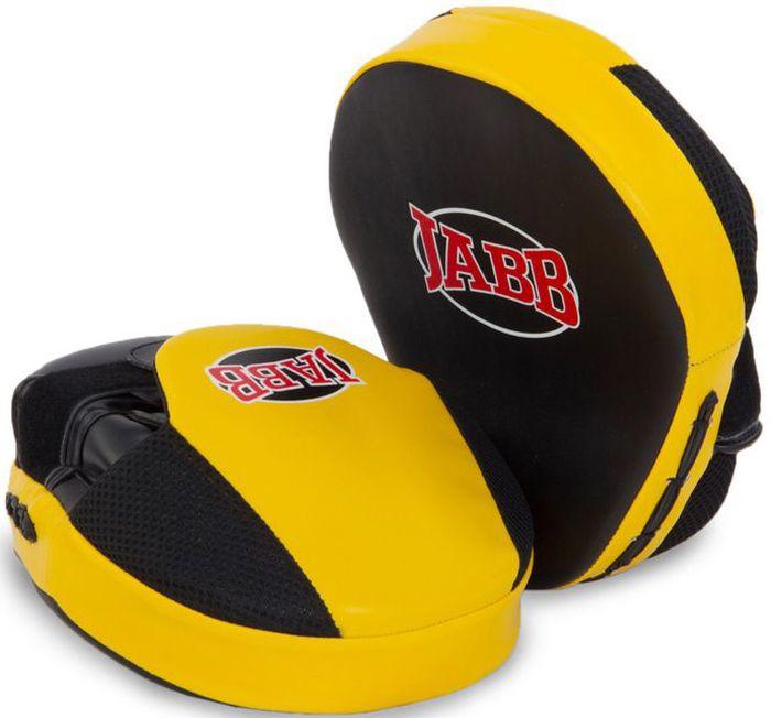 Лапа боксерская Jabb JE-2190, цвет: черный, желтый, 2 шт цена