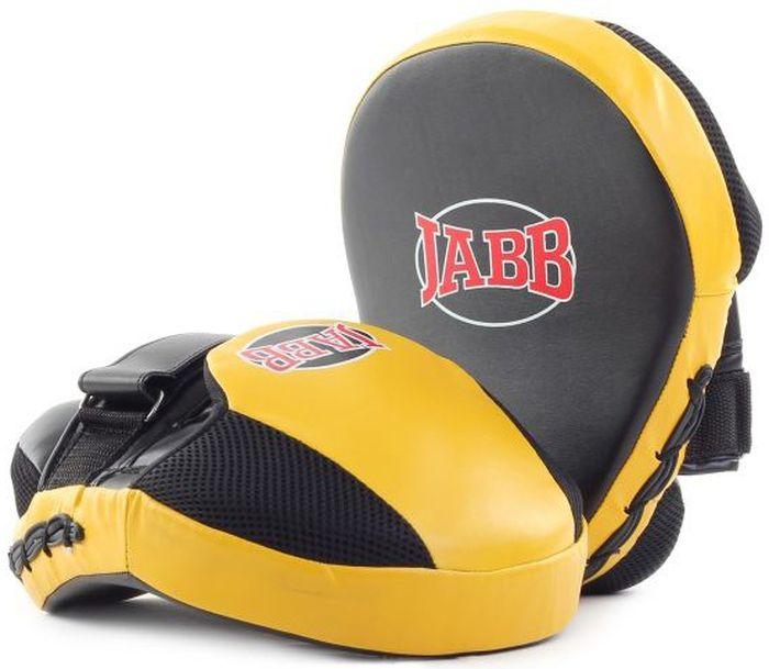 Лапа боксерская Jabb JE-2194, цвет: черный, желтый, 2 шт цена