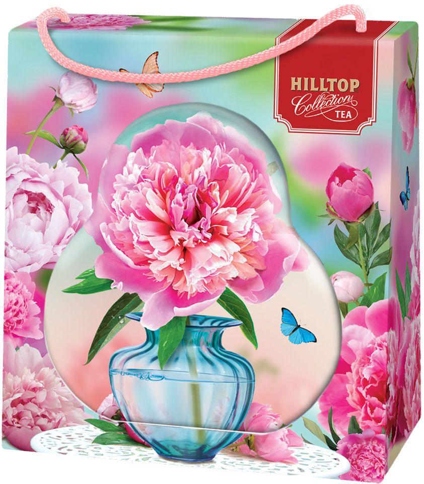 Hilltop Пион черный листовой чай Подарок Цейлона в футляре, 50 г hilltoр волшебный дед мороз чай черный листовой подарок цейлона 80 г