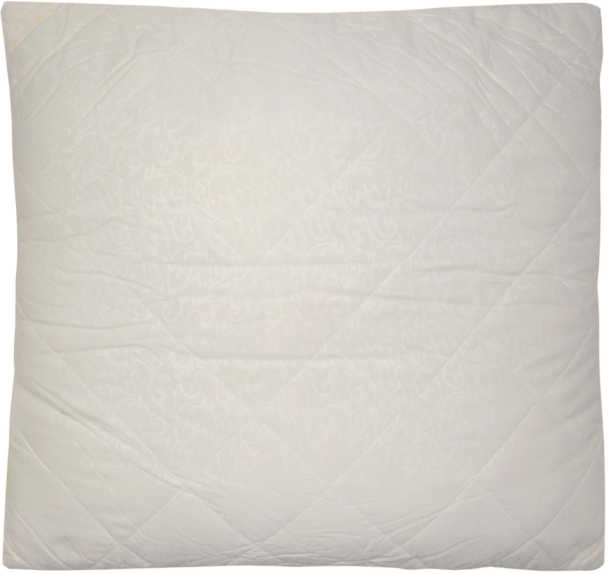 Подушка Miotex Овечья шерсть, наполнитель: овечья шерсть, цвет: бежевый, 68 х 68 см одеяло стеганое летнее miotex овечья шерсть 172 см х 205 см