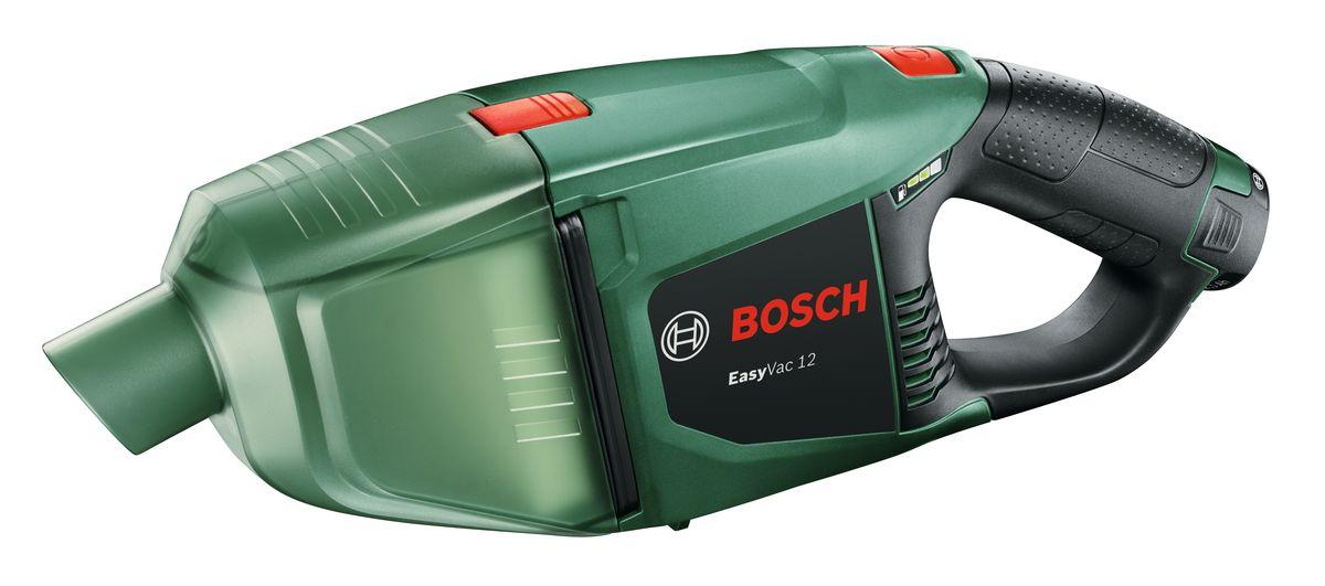 Аккумуляторный пылесос Bosch EasyVac 12, 1 акк. 06033D000106033D0001Bosch EasyVac 12 - Мощный аккумуляторный ручной пылесос для пола, подходящий также для мобильного использования в автомобиле или дома благодаря наличию Li-Ion аккумулятора 12V. Аккумулятор совместим со всеми инструментами Bosch для домашнего мастера (зеленого цвета) Li-Ion 10,8/12 В. Индикатор уровня заряда аккумулятора с 3-мя светодиодами показывает уровень зарядки аккумулятора, поэтому легко определить оставшееся время работы . Практичная удлинительная трубка для исключительно комфортной очистки полов, оптимально подходит для труднодоступных мест благодаря очень длинной щелевой насадке. Комфортная очистка мягкой мебели с щеточной насадкой. Плоский гофрированный фильтр, который легко чистить и заменять, обеспечивает высокую эффективность удаления пыли. Один аккумулятор для всех — для любых садовых электроинструментов/электроинструментов для домашней мастерской из системы 10,8 / 12V Li-Ion. Технические характеристики: Напряжение аккумулятора: 12,0 В Ёмкость аккумулятора: 2,5 А•ч Продолжительность работы: 2.5 А•ч/22 мин Вес с аккумулятором: 1 кг. Комплект включает 1 аккумулятор.Как сэкономить на аккумуляторном электроинструменте Рекомендуем!
