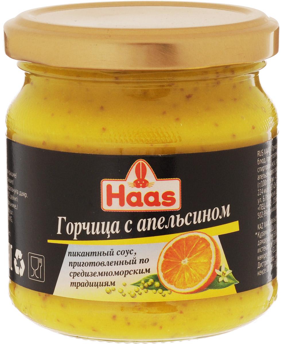 Haas горчица с апельсином, 210 г haas горчица с апельсином 200 г