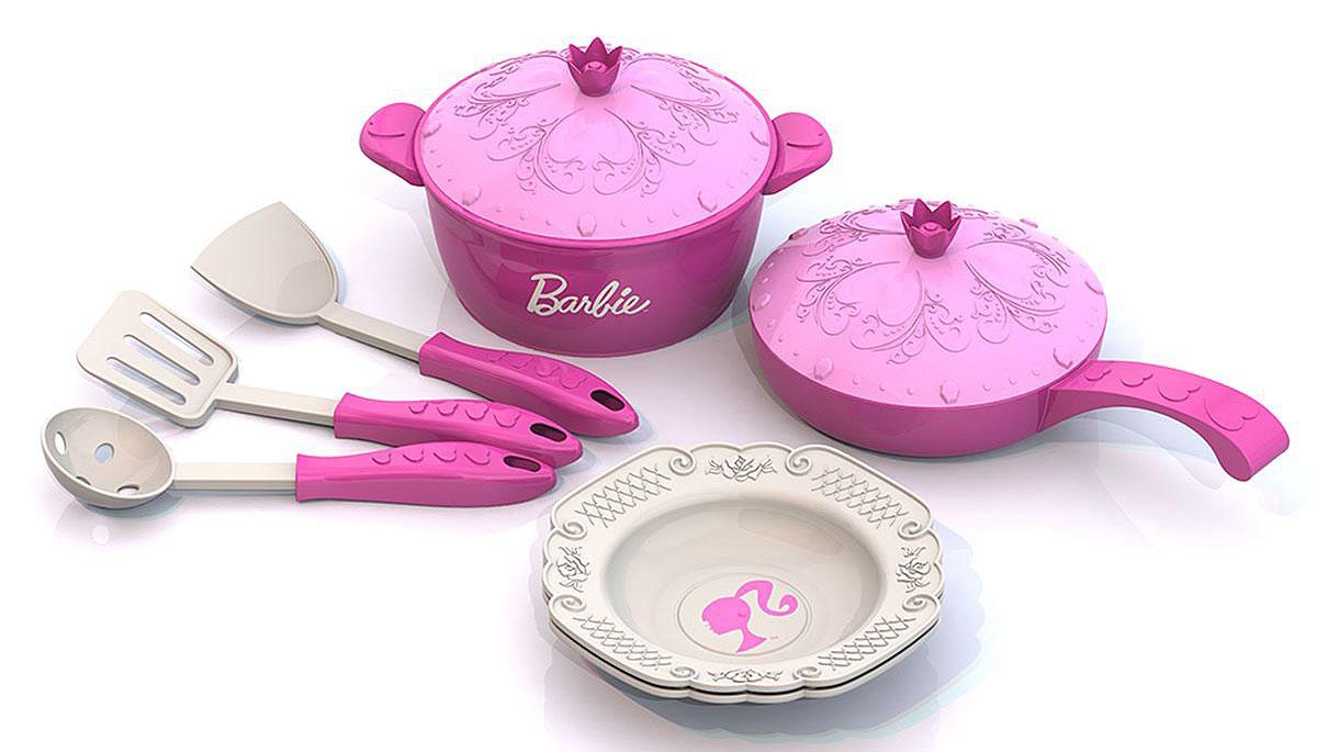Нордпласт Игрушечный набор посуды Barbie 9 предметов игрушки в песочницу нордпласт набор для песочницы 2