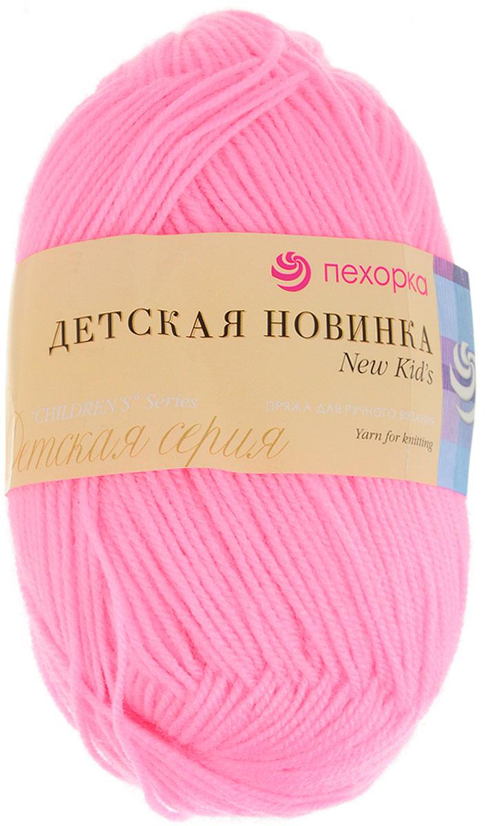 """Пряжа для вязания Пехорка """"Детская новинка"""", цвет: ярко-розовый (11), 200 м, 50 г, 10 шт"""