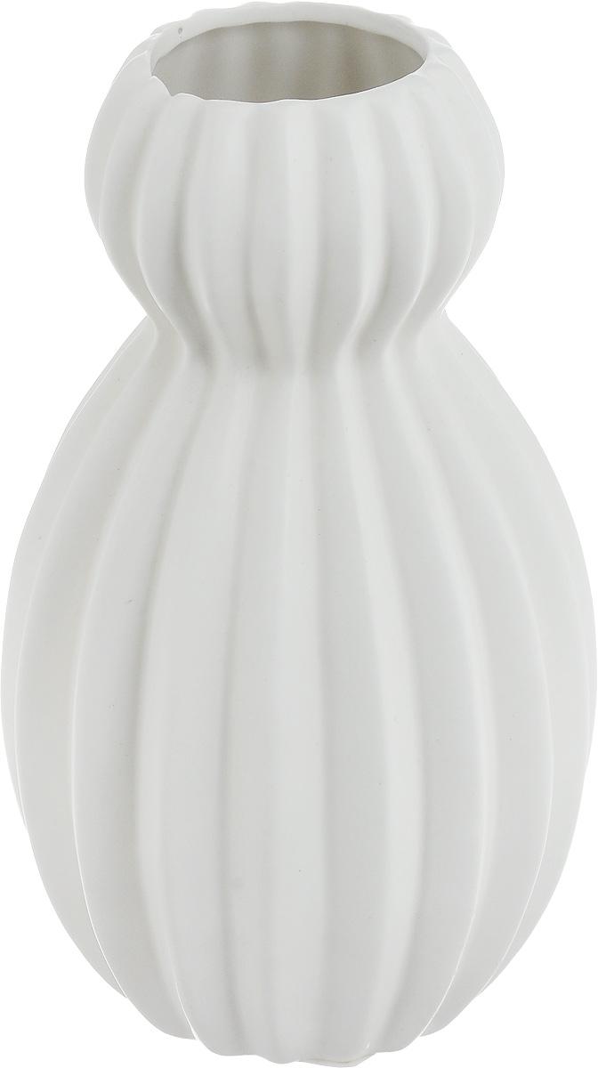 """Ваза декоративная """"Феникс-Презент"""", цвет: белый, высота 18 см"""