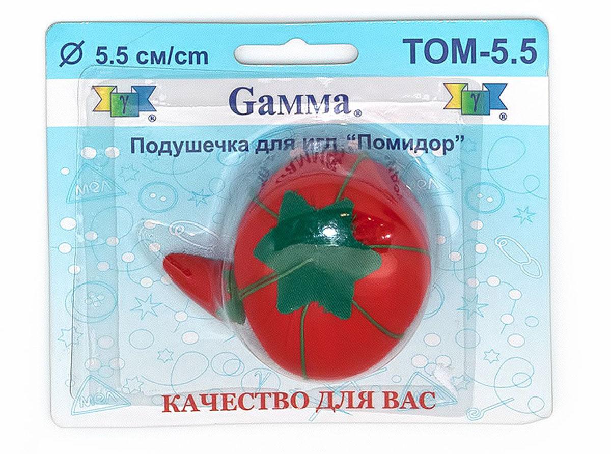 Игольница Gamma Помидор, диаметр 5,5 см булавки для шитья gamma ромашка 40 шт