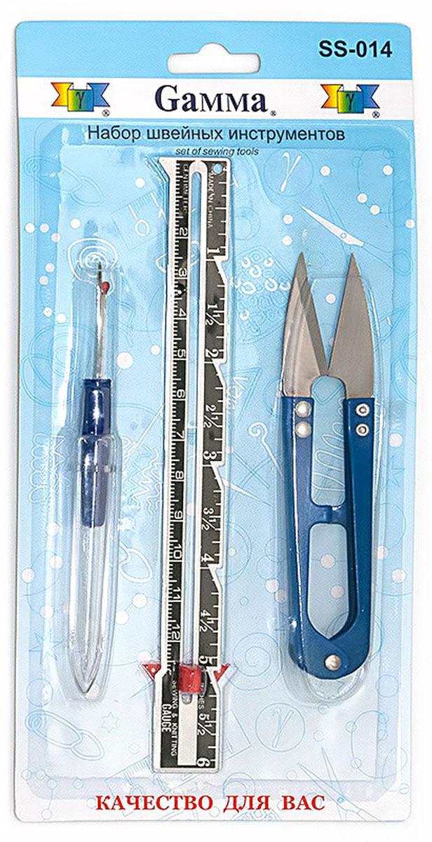 Набор инструментов для шитья Gamma, 3 предмета. SS-014 все для шитья украина